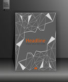 Diseño gris del libro en polivinílico bajo Informe anual con el higo geométrico Imagen de archivo