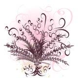 Diseño hermoso de la flor del vector Foto de archivo libre de regalías