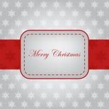 Diseño hermoso del marco para la tarjeta de Navidad Fotografía de archivo