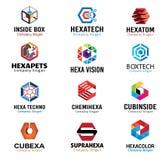 Diseño hexagonal de las formas Foto de archivo