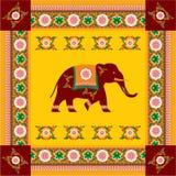 Diseño (hindú) indio del elefante ilustración del vector