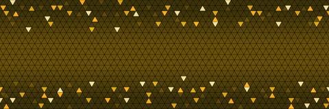 diseño horizontal del oro del triángulo para el modelo y el fondo, vecto Imagen de archivo