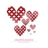 Diseño I de la serie del corazón del ejemplo del vector Imágenes de archivo libres de regalías