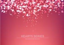 Diseño I del fondo del corazón del ejemplo del vector Fotos de archivo