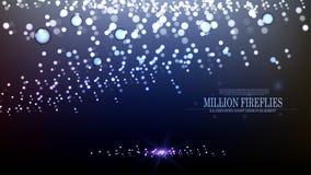 Diseño II del fondo de las luciérnagas del extracto millón del vector Fotos de archivo libres de regalías