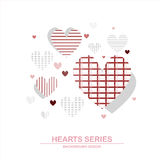 Diseño III de la serie del corazón del ejemplo del vector Fotos de archivo