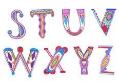 Diseño incompleto del alfabeto Foto de archivo libre de regalías