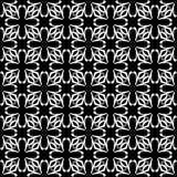 Diseño inconsútil blanco y negro del modelo del vector Imagenes de archivo