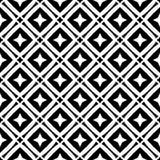 Diseño inconsútil blanco y negro del modelo del vector Imagen de archivo libre de regalías