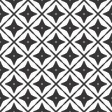 Diseño inconsútil blanco y negro del modelo del vector Imagen de archivo