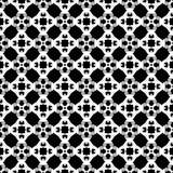 Diseño inconsútil blanco y negro del modelo del vector Fotos de archivo