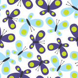 Diseño inconsútil de la mariposa Fotos de archivo