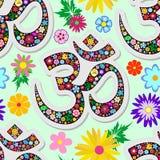 Diseño inconsútil de la materia textil del vector del modelo de la muestra floral de la yoga de Namaste libre illustration