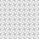 Diseño inconsútil de repetición decorativo de moda del fondo del modelo del vector de los puntos tribales geométricos enrrollados Fotografía de archivo libre de regalías