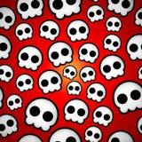 Diseño inconsútil del emo del cráneo Foto de archivo libre de regalías