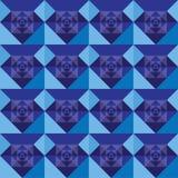 Diseño inconsútil del fondo del azul real de los cuadrados Foto de archivo libre de regalías