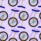 Diseño inconsútil del fondo del Unicycle Foto de archivo