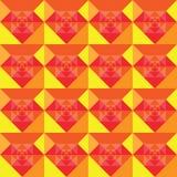 Diseño inconsútil del fondo del verano de los cuadrados Fotos de archivo