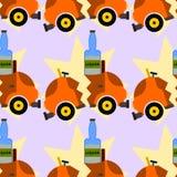 Diseño inconsútil del licor y del fondo del choque de coche Imagen de archivo