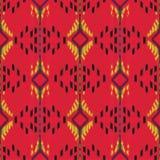 Diseño inconsútil del modelo de Ikat Tela étnica Moda bohemia Imagen de archivo