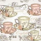 14)Diseño inconsútil del papel pintado del vector en estilo del vintage Imagen de archivo libre de regalías