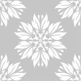Diseño inconsútil floral blanco en fondo gris Imagenes de archivo