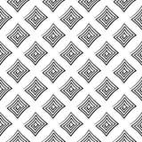 Diseño inconsútil geométrico blanco y negro Imágenes de archivo libres de regalías