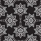 Diseño inconsútil marroquí drenado mano del vector de la tela Foto de archivo libre de regalías
