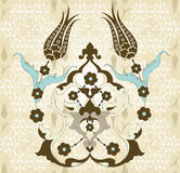 Diseño inconsútil turco del otomano tradicional stock de ilustración