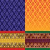 Diseño indio de la sari Imagen de archivo