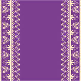Diseño indio púrpura de la frontera de la alheña Imagen de archivo