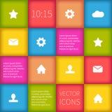 Diseño infographic ajustado colorido del ui Imagen de archivo libre de regalías