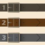 Diseño infographic de la hebilla del cinturón ilustración del vector