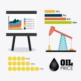 Diseño infographic de la industria del petróleo y de petróleo Fotografía de archivo libre de regalías