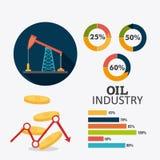 Diseño infographic de la industria del petróleo y de petróleo Foto de archivo