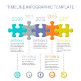 Diseño infographic del vector de la cronología moderna Fotos de archivo libres de regalías