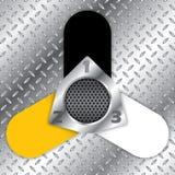 Diseño infographic industrial con los elementos metálicos imágenes de archivo libres de regalías
