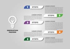 Diseño infographic modificado fácil del negocio Fotografía de archivo