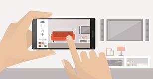 Diseño interior app libre illustration