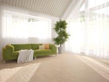 Diseño interior blanco de sala de estar Imagen de archivo