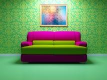 Diseño interior brillante de sala de estar moderna Fotos de archivo