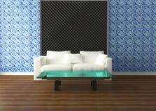 Diseño interior brillante de sala de estar moderna Imagen de archivo