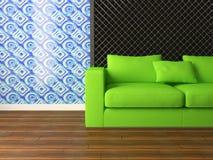 Diseño interior brillante de sala de estar moderna Imagenes de archivo