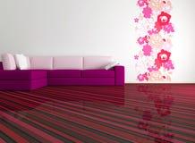 Diseño interior brillante de sala de estar moderna Imagen de archivo libre de regalías