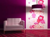 Diseño interior brillante de sala de estar moderna Imágenes de archivo libres de regalías