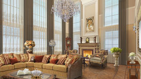 Diseño interior Casa proyecto Estilo clásico Fotos de archivo libres de regalías