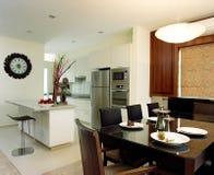 Diseño interior - cenando imagen de archivo libre de regalías