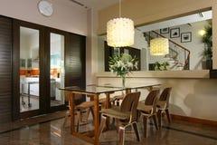 Diseño interior - cenando Fotografía de archivo libre de regalías