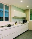 Diseño interior - cocina Foto de archivo libre de regalías