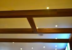 Diseño interior con la fotografía del fondo de las luces Fotos de archivo